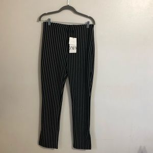 ZARA WOMEN STRIPED PANTS LARGE NWT